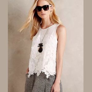 Anthropologie Greylin Nareh White Lace Tank size S